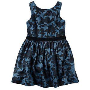 Carters Navy Black Floral Dress Sz 3T 5 NWT
